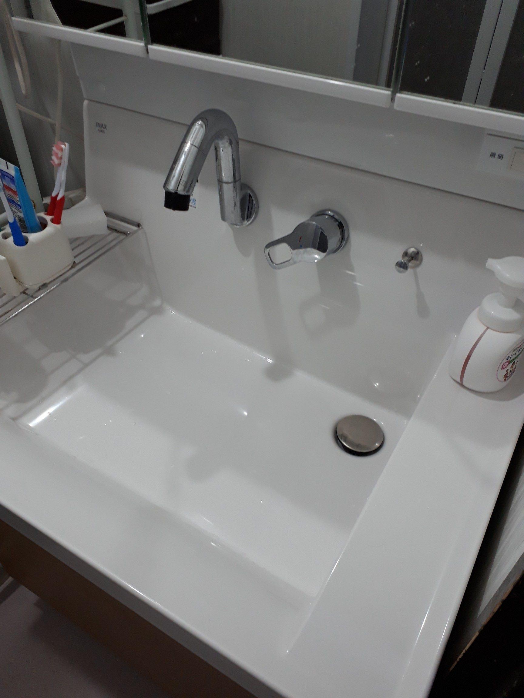 洗面のつまり